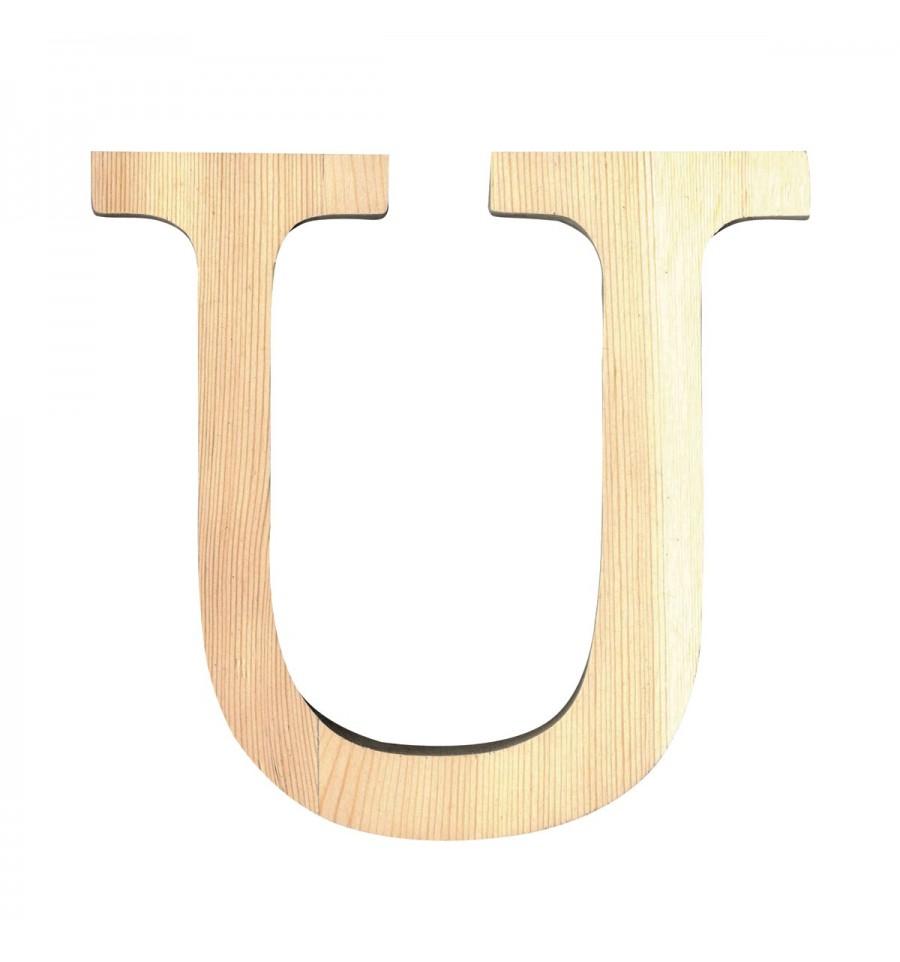 letra de madera u 11 cm have a nicely day invitaciones